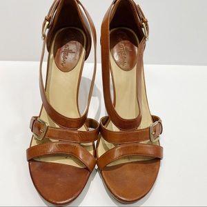 Cole Haan Nike air brown leather heel sandals